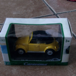 cararama 1:43 Classic Volkswagen Beetle cabriolet closed hood yellow @SOLD@